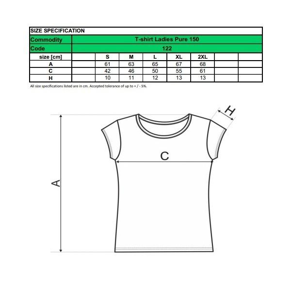 7c65855167 Női póló nagyon rövid ujjal (Pure 150) Adler - pólók, ingek ...