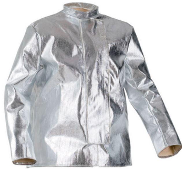 Aluminizált védőkabát, hő- és lánghatás ellen