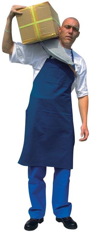 Vászonkötény, fehér vagy kék színben, 90 x 70 cm