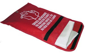Tűzelfojtó takaró tasakban, 540ºC, 420g/m2 - 1,2 x 1,2 m
