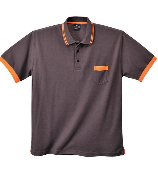 Texo Contrast pólóing (2XL-es méret, szűrke szín)