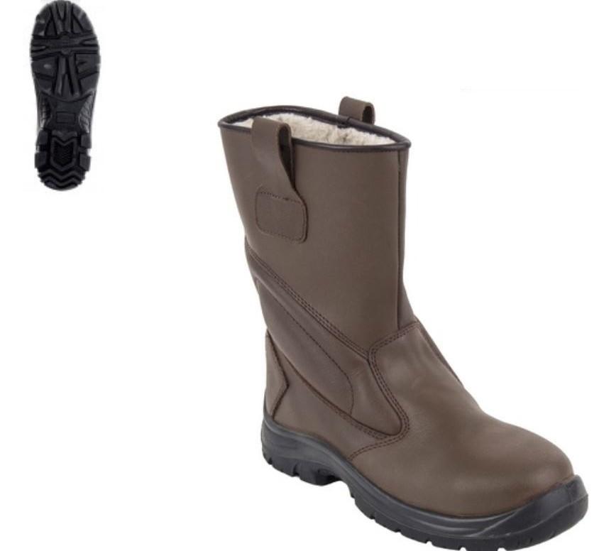 PIEMONTITE (S3 CK) barna színbőr, szőrmebélés, kompozit lábujjvédő, Welmax® talplemez, fémmentes