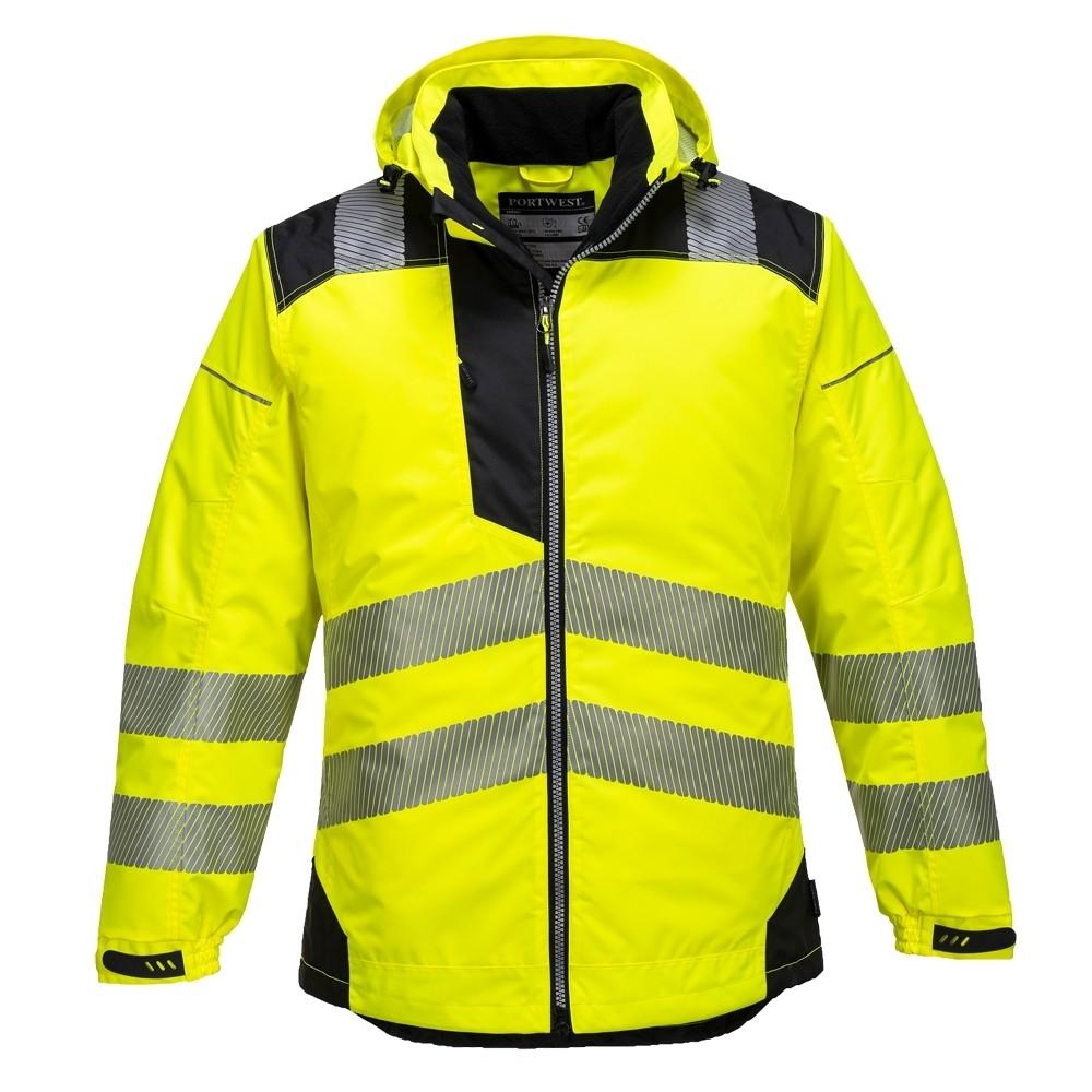 T400 - Vision jól láthatósági esőkabát sárga