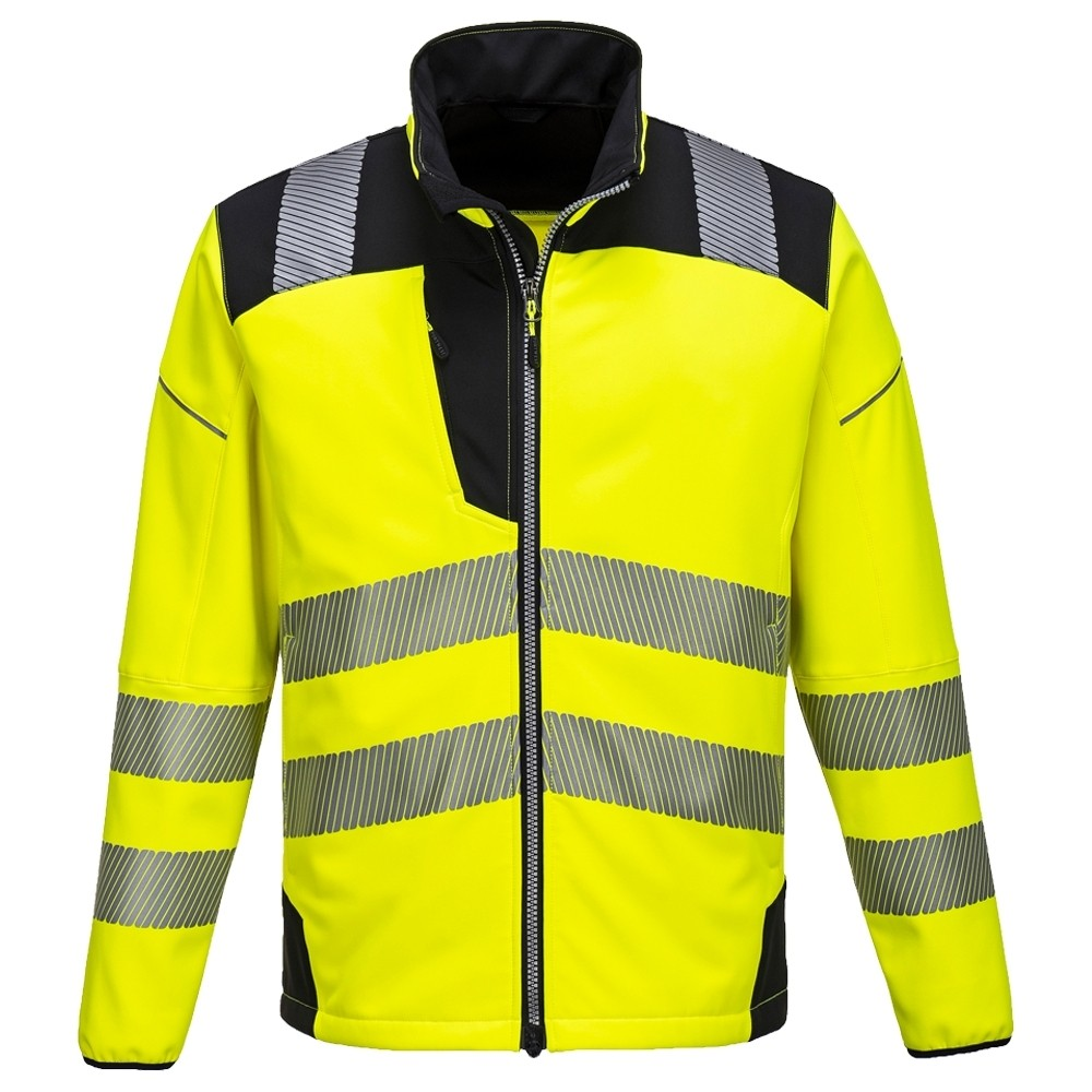 T402 - Vision jól láthatósági softshell kabát sárga