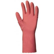 Háztartási gumikesztyű, rózsaszínű 0,4 mm vastag