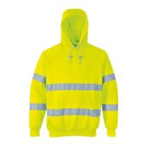 B304 - Jól láthatósági kapucnis pulóver sárga