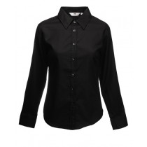 Női hosszú ujjú ing (Lady-Fit Long Sleeve Poplin Shirt) Fruit