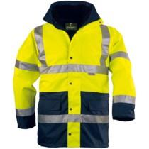 FLUO PE 4/1 jól láthatósági kabát