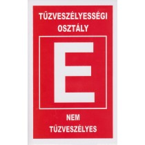 Tűzveszélyességi osztály ''E''