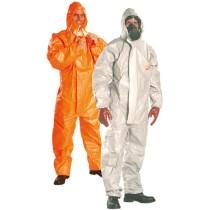 Tychem® F szürke védőoverall nagynyomású vegyszerek, radioaktív részecskék, biológiai veszélyek ellen