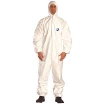 Tyvek® Classic kapucnis, antisztatikus overall vegyszerek és radioaktív részecskék ellen