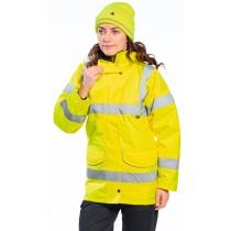 S360 - Jól láthatósági női kabát sárga