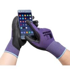 Touchscreen (kapacitív kesztyű, érintőképernyős eszközökhöz) PU kesztyű